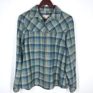 Pendelton Plaid Shirt Wool Button-down Large